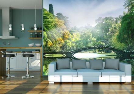 Wall mural wallpaper Bridge in the Jungle